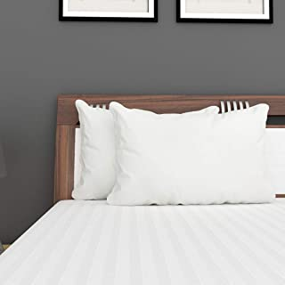 Home Centre Marshmallow Solid Waterproof Pillow Protector - White