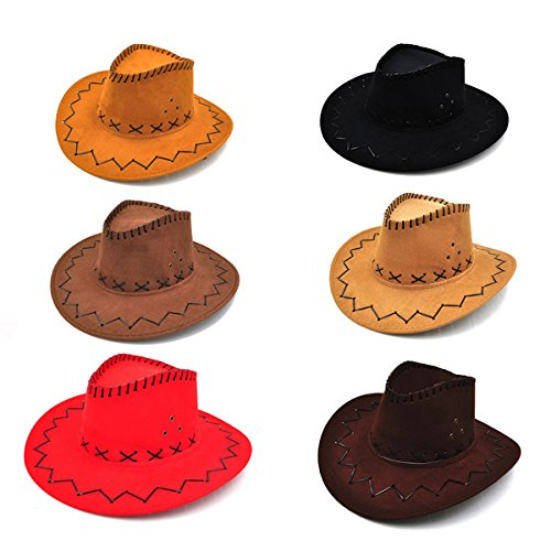 Amazon.com  Tinksky 6 Packs Cowboy Hats Dress Up Party Hats for Photo  Booths Themed Parties for Kids  Toys   Games 6a6af15f92a