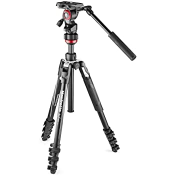 Manfrotto Befree Travel, Light Weight, Fluid Drag System Professional Video Tripod, Black (MVKBFRL-LIVEUS)