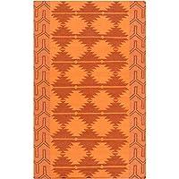 Swissvale フラットウィーブ サウスウェスタン モロッコ サウスウエスト ウール100% エリアラグ 5' x 8' Rectangle