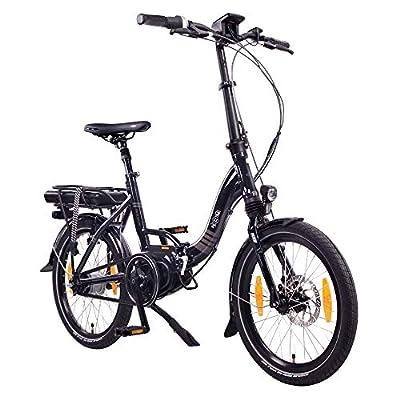 """NCM Paris MAX N8R / N8C E-Bike, E-Faltrad, 250W, 36V 14Ah 504Wh Akku, 20"""" Zoll (Schwarz mit Rücktrittbremse (N8C)"""