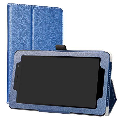 Alcatel 1T 7 Inch Funda,LiuShan Folio Soporte PU Cuero con Funda Caso para 7' Alcatel 1T 7 Inch 8068(Not fit Alcatel 1T 8082 10inch) Android Tablet,Azul