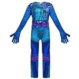 Zhuchao Niños Adultos Audrey/Mal/Evie/Jay/Carlos Disfraz de Cosplay de Halloween Juego de Disfraces Impresos en 3D Halloween Fancy Dress para Adulto, Cosplay Costume Incluye Accesorios