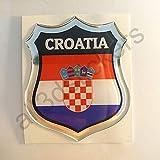 All3DStickers Aufkleber Kroatien Kfz-Aufkleber Kroatien Emblem Gedomt Flagge 3D Fahne
