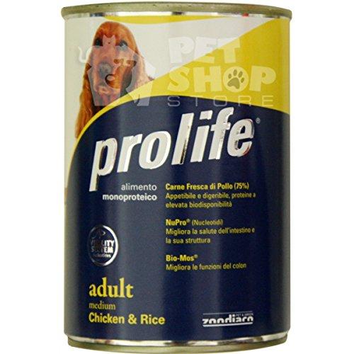 Prolife Adult Medium Poulet et Riz humide pour chiens 400 g