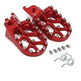 Foot Pegs Footpegs Footrest Pedals Aluminum Foot rests For CR125R CR250R CRF150R CRF250R CRF250X CRF450R CRF450RX CRF450X CRF250L CRF250RALLY KX250F KX450F KLX450R Motorcycle Dirt Bike