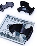 Batman logo metal money clip