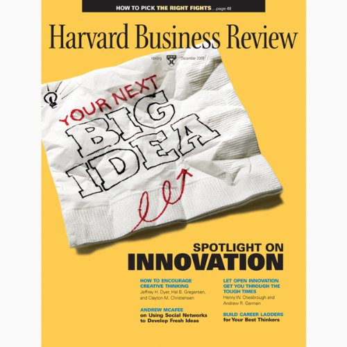 Harvard Business Review, December 2009 audiobook cover art