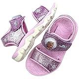 [Joah Shop] アナと雪の女王2 Frozen Ⅱ エルサ アナ ライトアップ パープル サンダル シューズ ぴかぴか光る 靴 (19.0 cm) [並行輸入品]