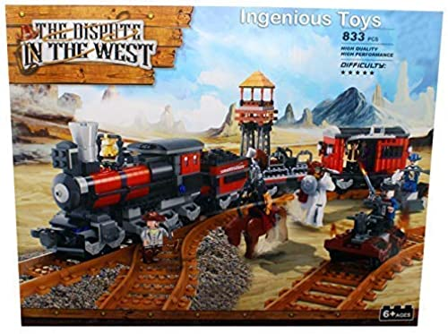 Ingenious Toys Cowgarçons et Indiens   Train Attaque de Train   Set de Construction  B5011