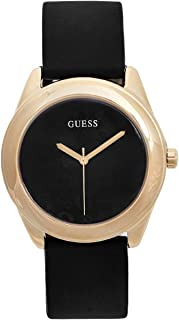 Factory Women's Black and Gold-Tone Silicone Logo Watch, NS