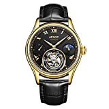 SHOUTAOB Reloj de ocio para hombre, reloj mecánico de lujo, resistente al agua, reloj de negocios para moda Relogio Masculin RZTZDM (color: G)