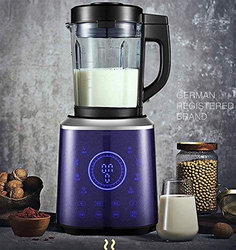 JXWWNZ Blender, Smoothie Blender 1200W for Ice Crushing with 11-Speed (30000 r/min) and 9-Programs Setting, 62 OZ Glass Jar & 8 Titanium Alloy Blades & Stainless Steel Housing Base,A