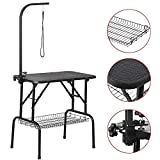Yaheetech Portable Small Pet Dog Grooming Table Adjustable Height -...