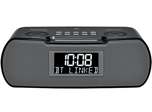 Sangean RCR-20 FM-RDS (RBDS) AM/Bluetooth/Aux-in/USB Phone Charging Digital Tuning Clock Radio with Battery Backup
