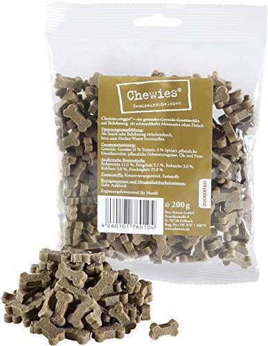 Chewies Hundeleckerli Gemüse MAXI Knöchelchen - 4 x 200 g - Trainingsleckerli für Hunde - zuckerfrei & vegetarisch - Hundesnacks ohne Fleisch (800 g)