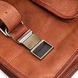 Berliner Bags Umhängetasche York M aus Leder Ledertasche Herren Damen Braun Klein - 6