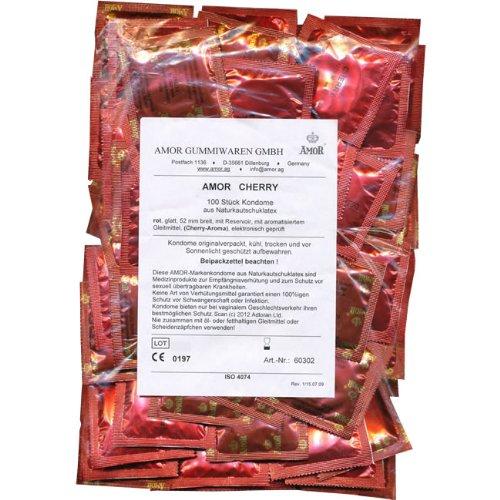 Amor Cherry: 100 rote Kondome mit sommerlichem Kirsch-Aroma