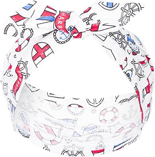Küstenluder Damen Bianka Matrosen Haarband Tuch Länge ca. 77cm, Breite 5cm - 15cm