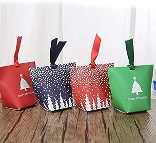 Box Gift Box Supplies Wholesale Christmas Christmas Eve Christmas Candy Box Peace Fruit Box (BLUE-10PCS)
