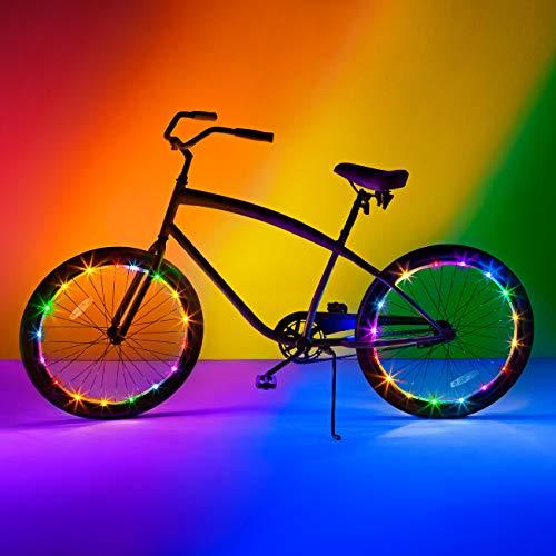 Brightz WheelBrightz LED-Fahrradzubehör-Licht, 2 Stück, für 2 Reifen, Regenbogenfarben