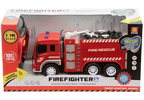RC Auto kaufen Feuerwehr Bild 2: Spiel AG Feuerwehrauto R/C ferngesteuert Fire Truck 1:16 mit Licht*