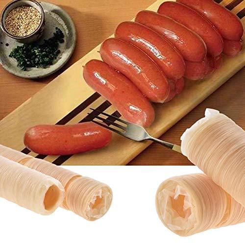 14M X 26MM Carne De Salchicha De Colágeno Fresco Comestible para Hacer Salchicha Asada Salchicha Seca Salchicha Perrito Caliente