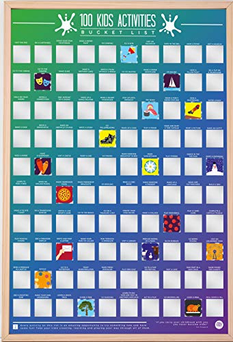 Gift Republic 100 Kids Activities Bucket List Poster, A2, Multi