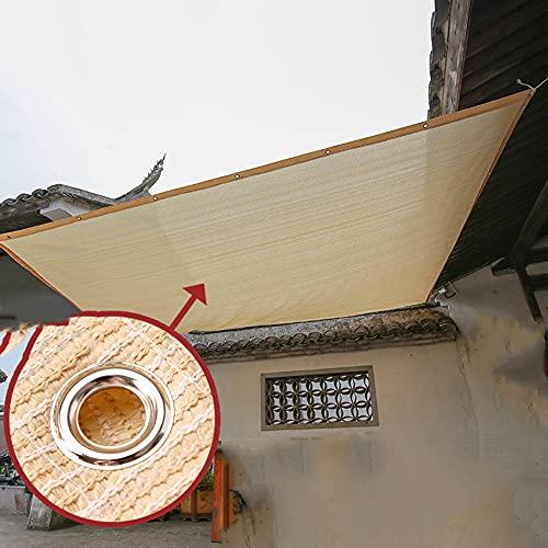 Protector Solar Beige 90% Paño De Sombreado Bordes Perforados Cada 1 M Ultrafino Y Anti-ultravioleta Malla De Sombra De Alta Resistencia Protección De Privacidad Y Malla De Sombra A Prueba De Viento
