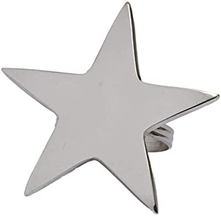 DII 5 Point Silver Star Napkin Ring, Set of 4