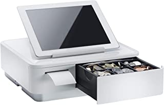 Star Micronics mPOP Integrated Receipt Printer & Cash Drawer with Tablet Stand - White