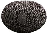 MAB - Comodo pouf lavorato a maglia, per soggiorni moderni, 55...
