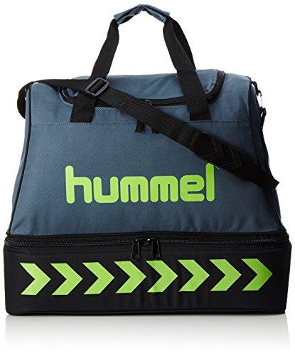 Hummel Authentic Soccer Bag, Dark Slate/Green Flash, 54 x 32 x 44, 65,5 Liter, 40-959-1616
