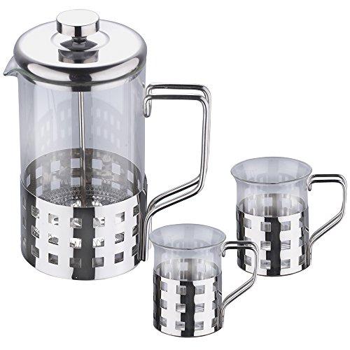 Renberg Set, 3-TLG. Kaffeekanne, Tassen