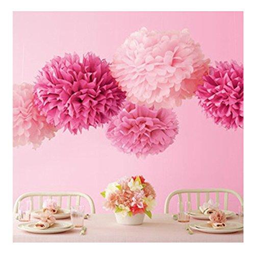 (ウエディングランド)WEDDINGLAND ペーパーポンポン ハニカムボール ペーパーフラワー バースデーパーティー 装飾 ウェディング 結婚式 アイテム 小物 インテリア お祝い ピンク5個セット