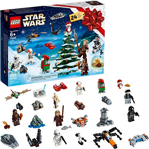 LEGO Star Wars 2019 Advent Calendar 75245 Holiday Gift Set Building Kit with Star Wars Minifigure Characters (280 Pieces) (Discontinued by Manufacturer)