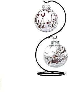 Archi Creative Hanging Plant Glass Stand Flower Holder For Landscape Garden Decor (S Shape Stand)