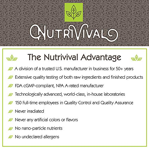 Nutrivival Probiotic Enteric 4 Billion With Clinically Validated Strains To Promote Healthy Digestion and Immune System Function* 60 Vegetarian Capsules