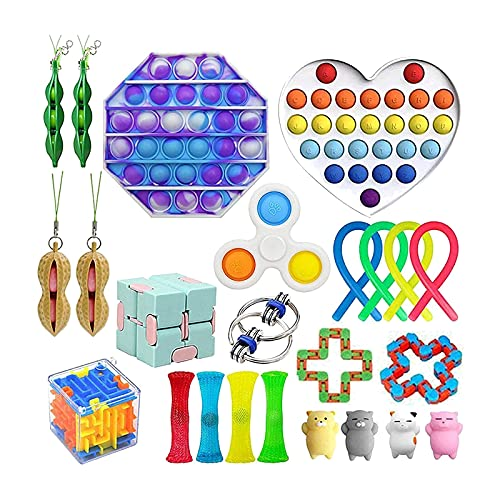 Tik Tok Fidget Toys Sensory Package Fidget Toys Push Bubble Toy Stress Relief Pop Anxiety Toys Set For Add Ocd Kids Autistic Adult Anxiety Autism