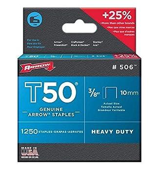 Arrow Fastener Company Inc 506 2 Pack 3/8 in T50 Genuine Arrow 2,500pc Staple