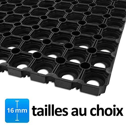 Tapis caillebotis en caoutchouc etm Octo Door | épaisseur 16mm | fonction tapis brosse + tapis anti-fatigue | usage PRO | tailles au choix - 100x150cm