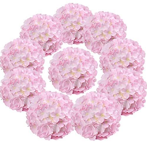 Flojery - Cabezales de Hortensia de Seda para decoración del hogar, Boda, 10 Unidades