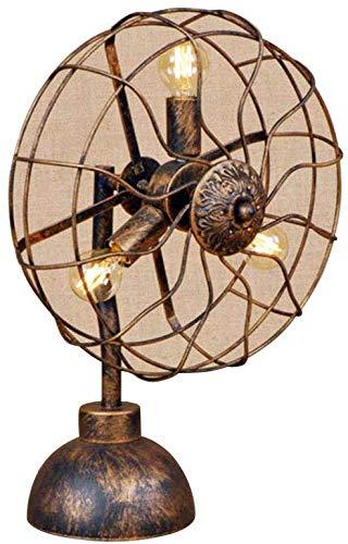 Beautiful Home Decoration lampen tafellamp industrieel design ventilator E14 leeslamp voor slaapkamer café bar loft deco ijzer 3 lampen (beschilderd met B