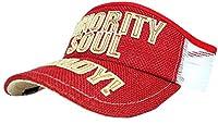 [ビッグワッチ] 帽子 大きいサイズ ヘンプ サンバイザー ゴルフ レッド SBH-03 メンズ L XL