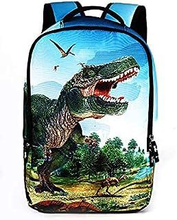 حقائب ظهر مدرسية للجنسين بطباعة ديناصور ثلاثية الابعاد للتنزه اليومي