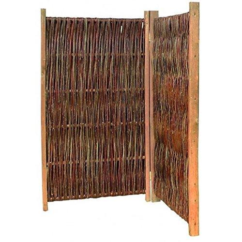 Weidenprofi Paravent, Raumteiler aus Weide, Sichtschutz klappbar, 2-teilig Größe (BxH): 120 x 120 cm