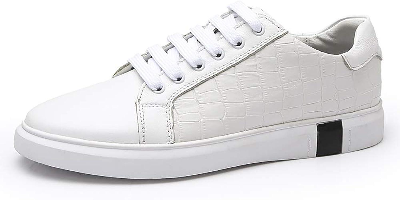 EGS-schuhe Turnschuhe für Herren Sportschuhe Schnürschuhe OX OX Leather Simple Classic Small Weiß,Grille Schuhe (Farbe   Weiß, Größe   38 EU)  Großhandelsgeschäft