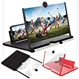 [Comfortable Viewing Experience]The screen magnifier works just like a phone projector screen, effectively doubling the size of your screen so you can enjoy movies and videos on your smartphone to the fullest in HD. [3D HD Screen Amplifier]: 12'' HD ...