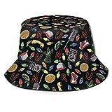 Bucket Hat Packable Reversible Cosas extrañas Imprimir Sombrero para el Sol Sombrero de Pescador Gorra Acampar al Aire Libre