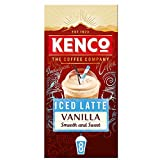 Kenco Iced Latte Vanilla Instant Coffee Sachets (Pack of 8, Total 40 Sachets)